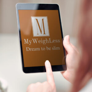 My Weigh Less on device Sarah's Weight Loss Success